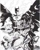 Legends of the Dark Knight : Terror, TPB, cover, b&w