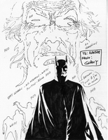 Batman, Year One, Issue #1, cover, bw, sketch