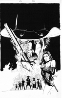 Jonah Hex, issue #43, cover, inked