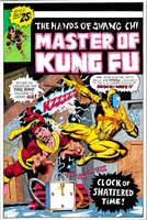 Master of Kung fu, issue #42, cover recreation