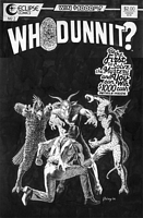 Whodunnit, issue #2, cover, black & white