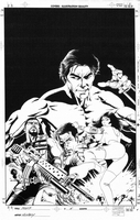 Master of Kung-Fu New mini series, issue #05, cover, b&w