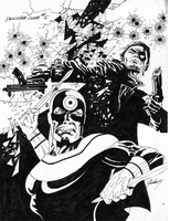 Punisher Mini Series, issue #5, cover, b&w, sketch
